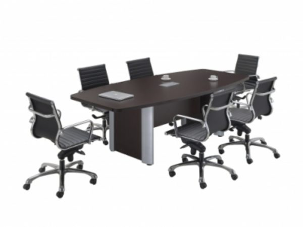 Laminate Boat Shape Conference Table Espresso Office - Espresso conference table