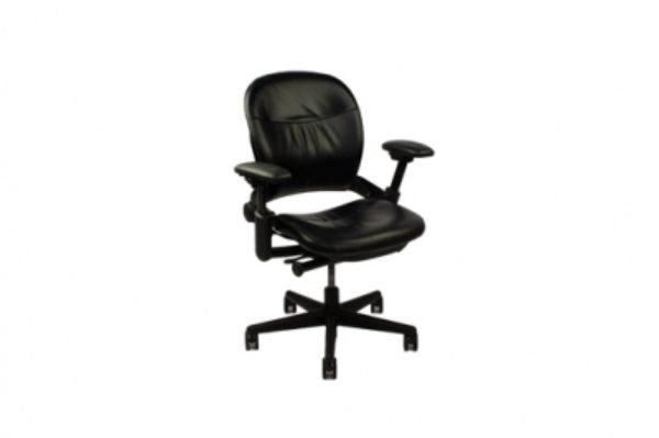 refurbished base chair leap black b in steelcase fabric titanium htm p