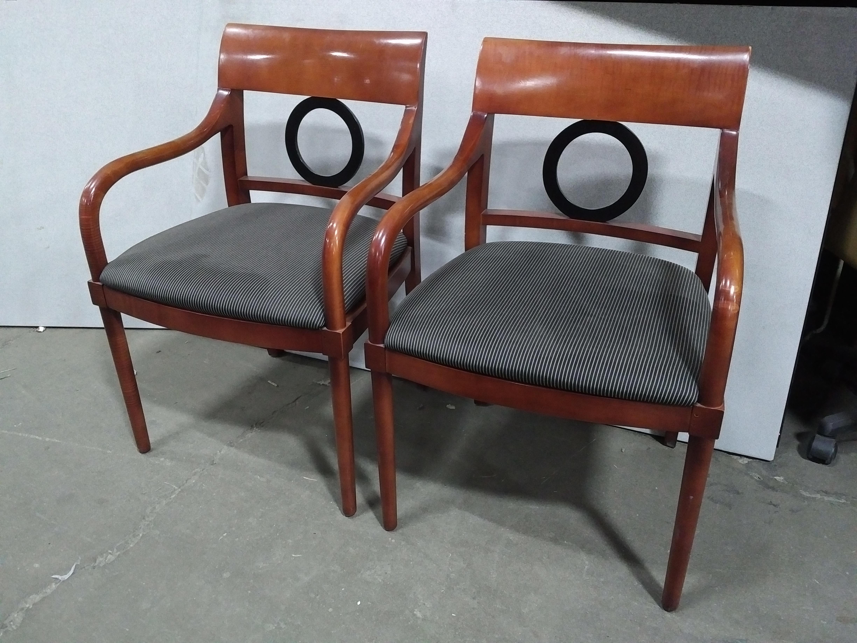 Bernhardt Design O Frame Guest Chairs Dark Cherry Office