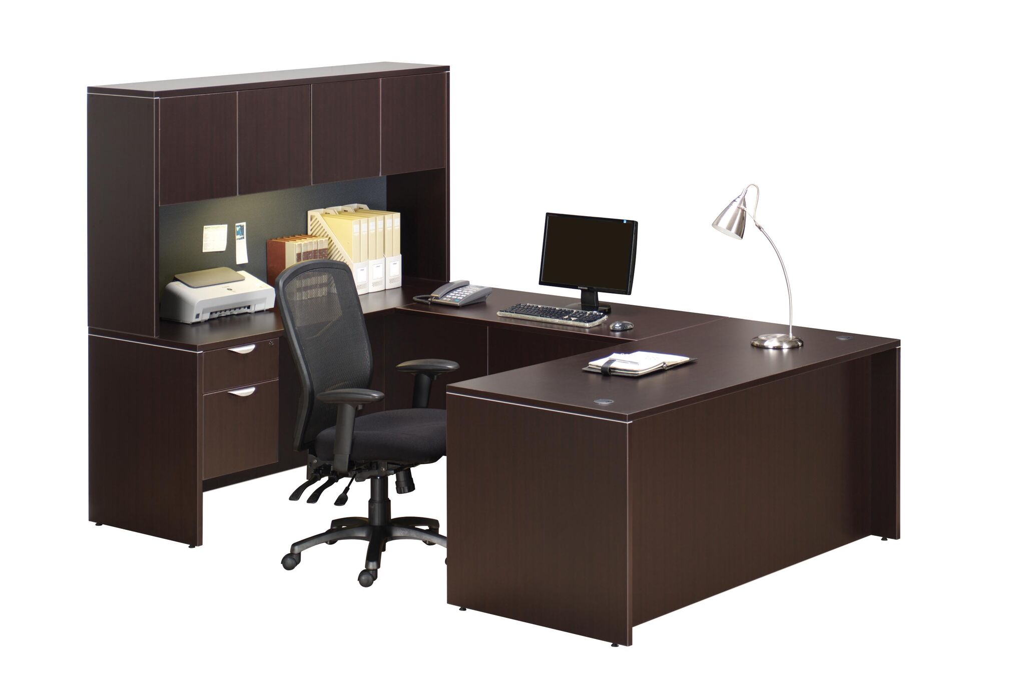 Whole Office Laminate 66 Ushape With Hutch