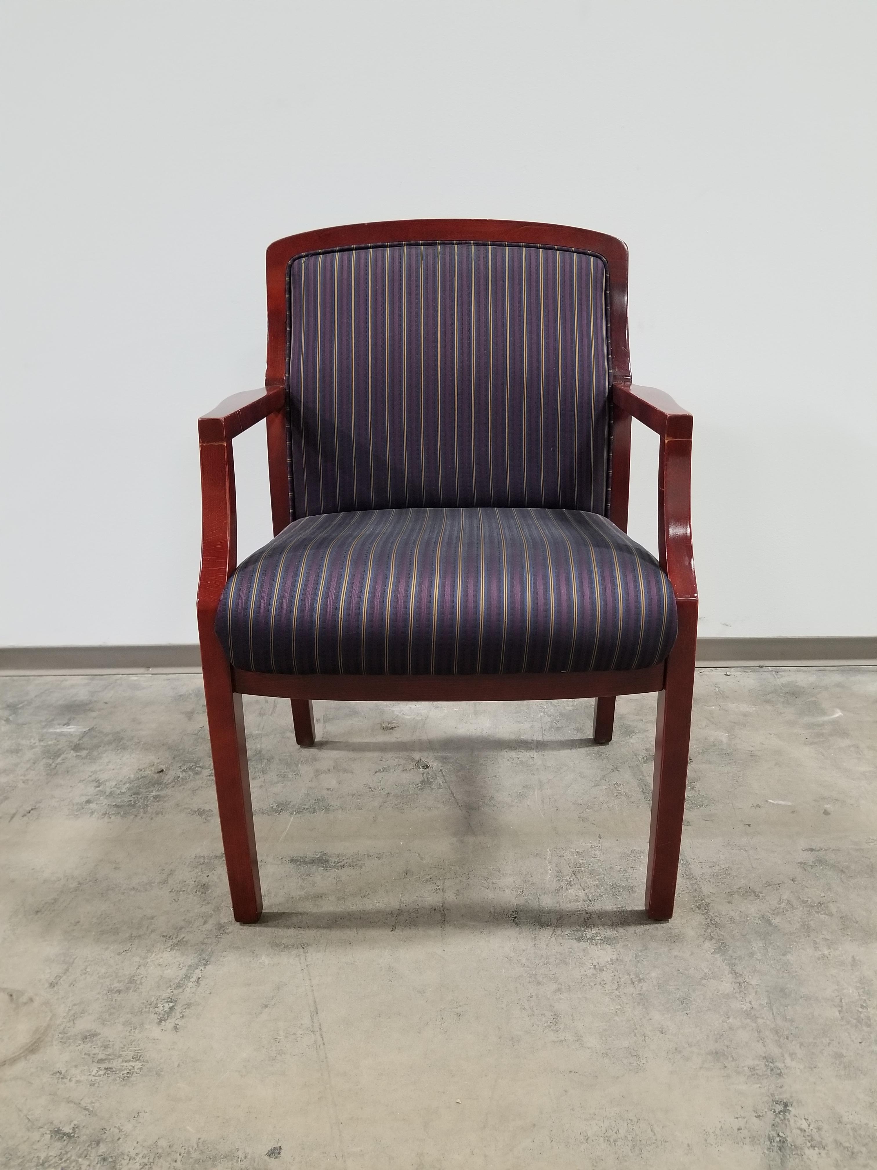 Paoli Guest Chair u2013 striped fabric & Paoli Guest Chair - striped fabric - Office Furniture Chicago - New ...