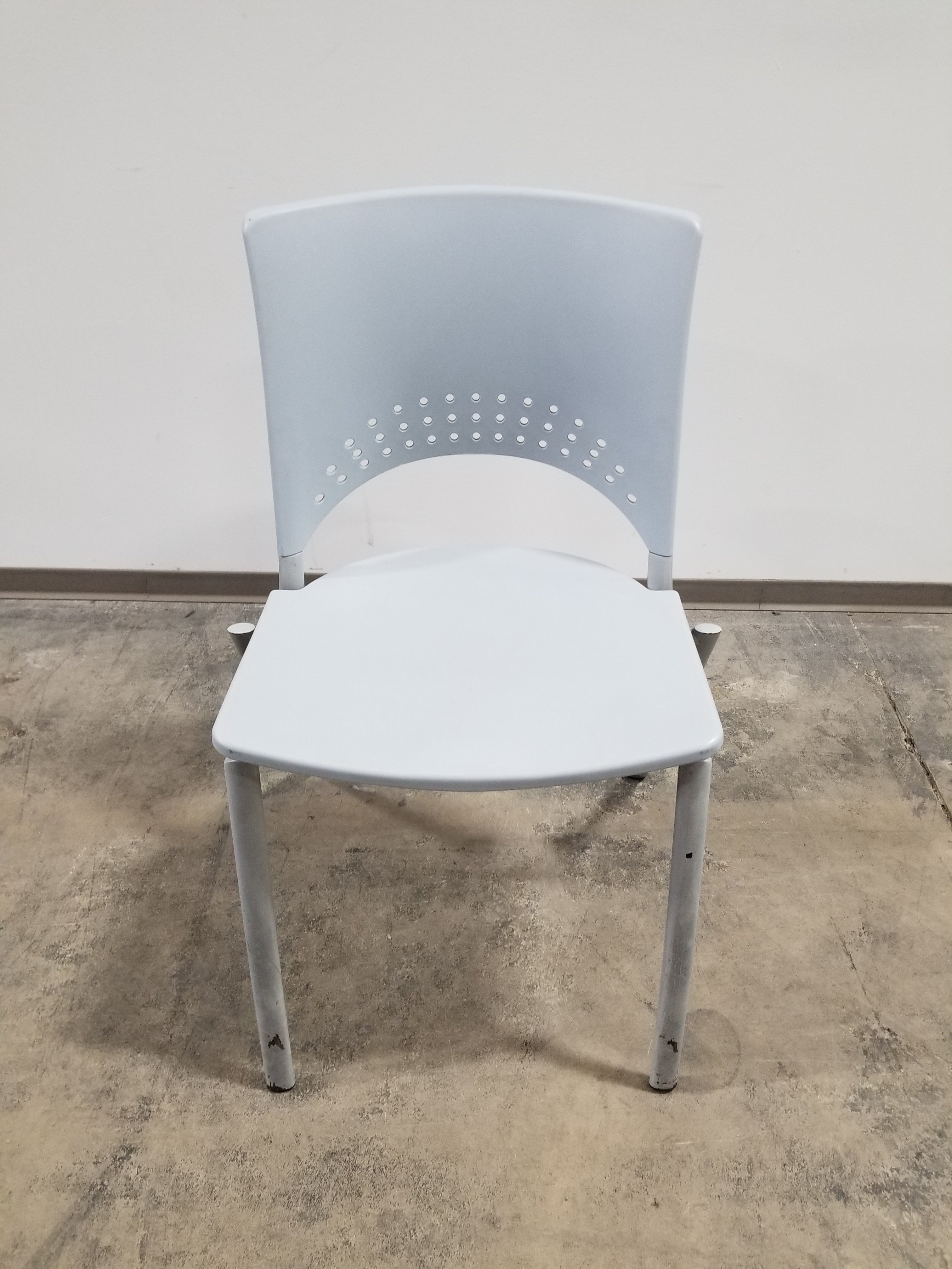 Stacking durable plastic chairs