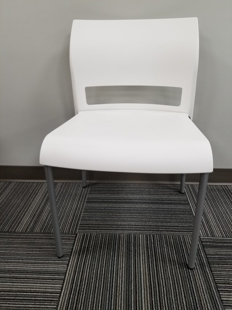 Contemporary White Plastic Steelcase Move Chair Office