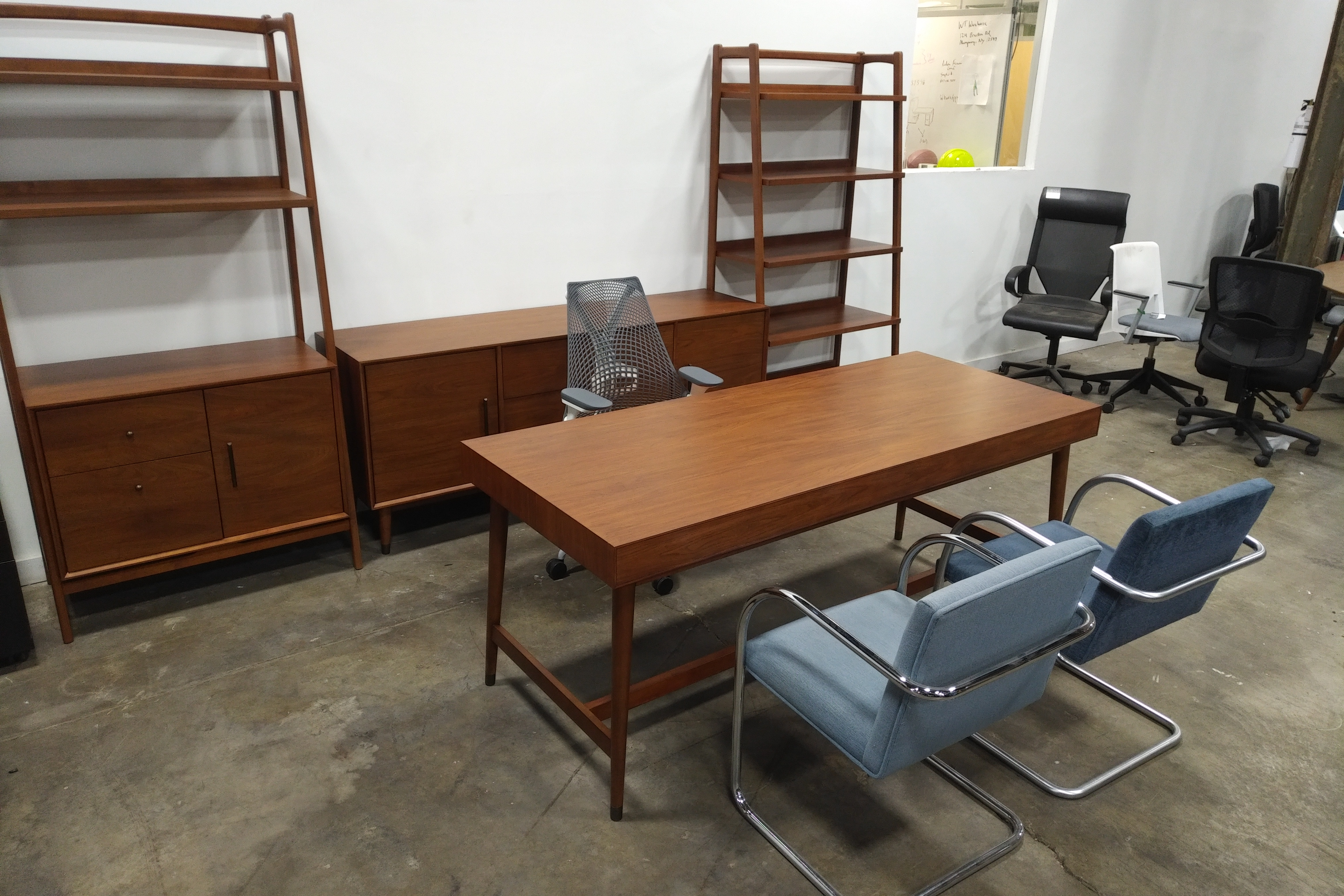 Image of: West Elm Mid Century Modern Desk 36 X72 Office Furniture Chicago New Used Refurbished