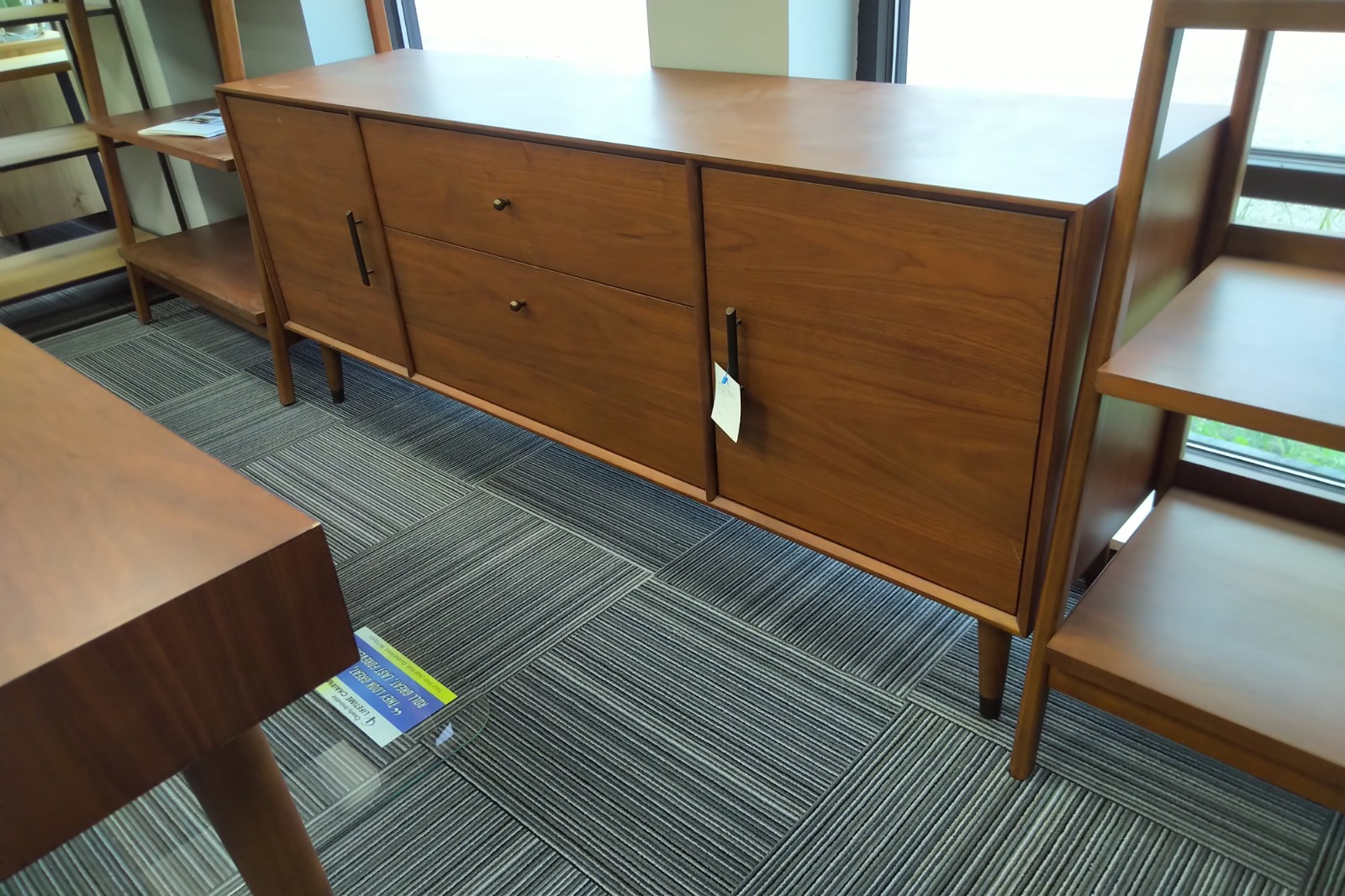 Mid Century Modern 72 Credenza Office Furniture Chicago New Used Refurbished