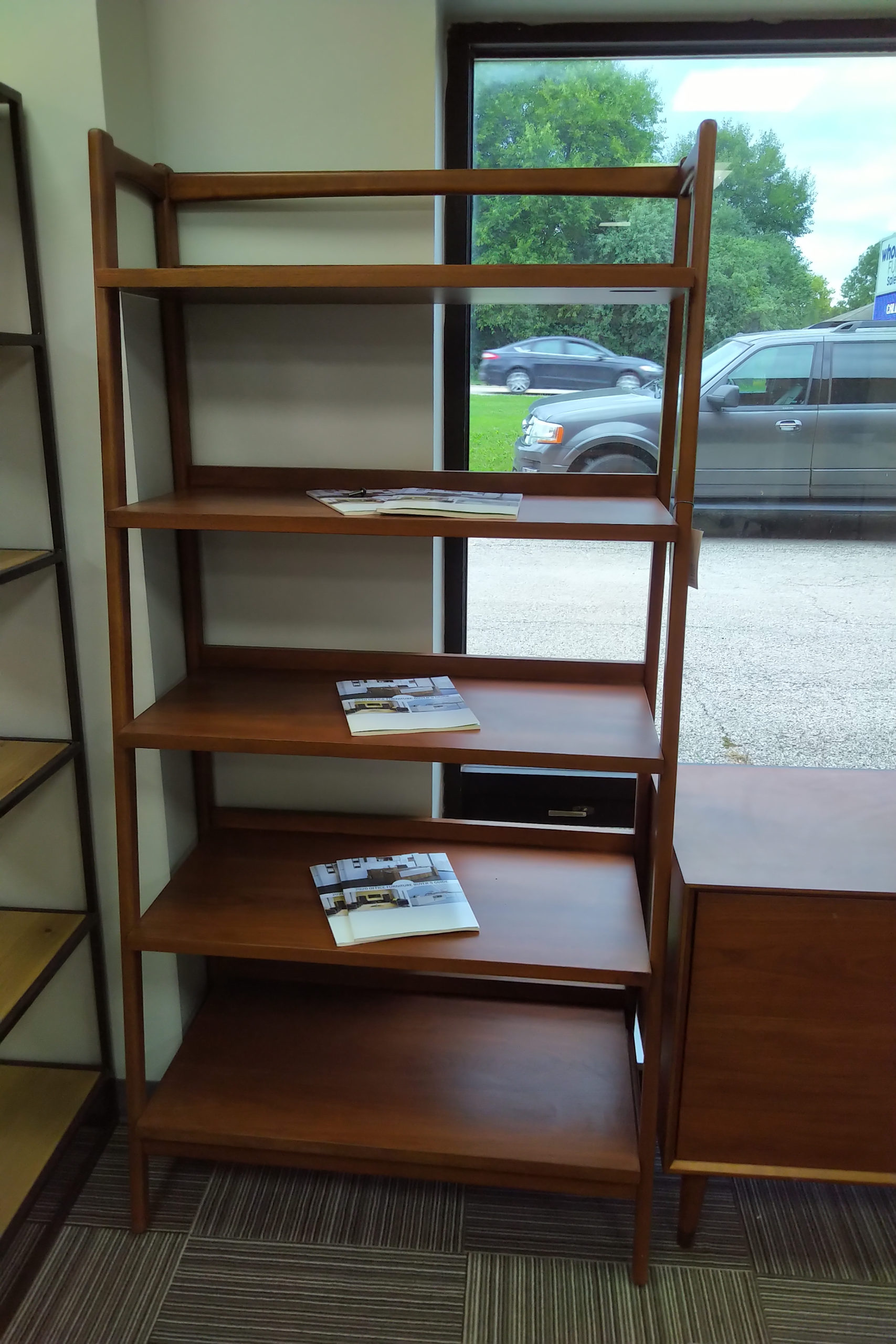 Image of: West Elm Mid Century Modern 72h 36w Bookshelf Office Furniture Chicago New Used Refurbished
