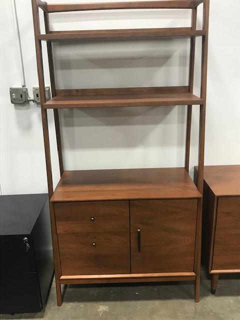 Mid Century Modern 36 Bookshelf W Storage