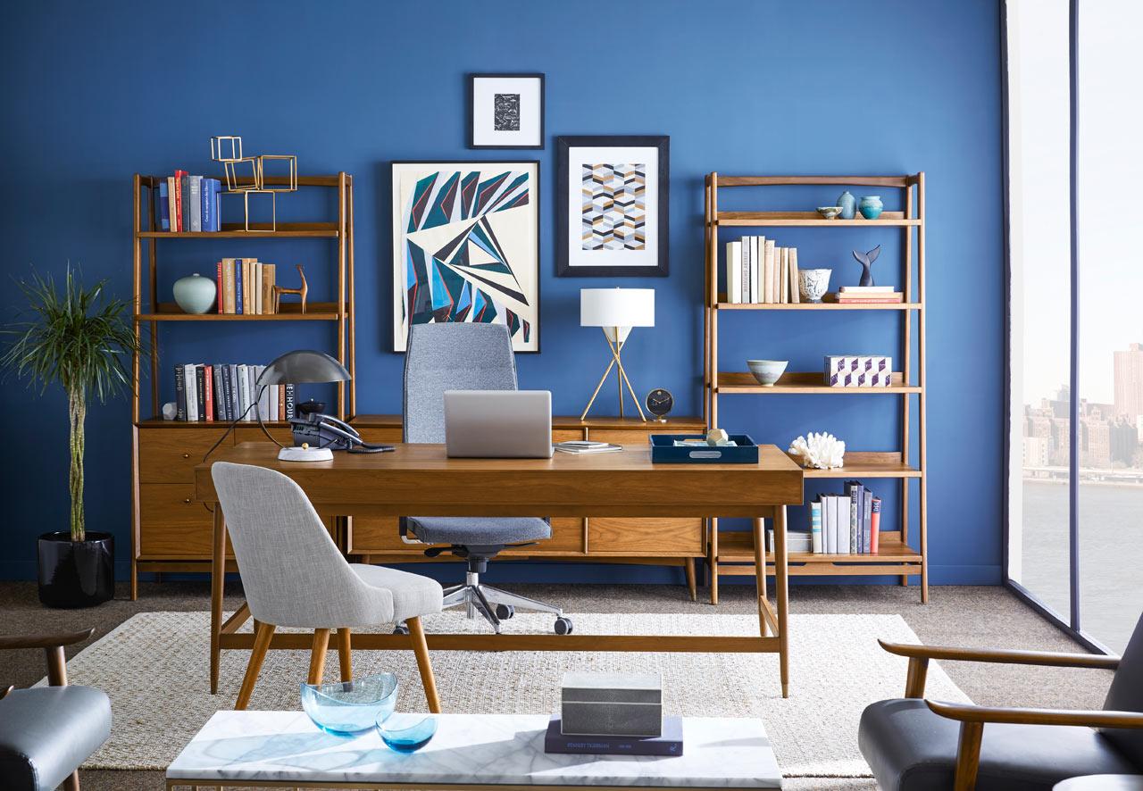 "Mid Century Modern 39"" Bookshelf"