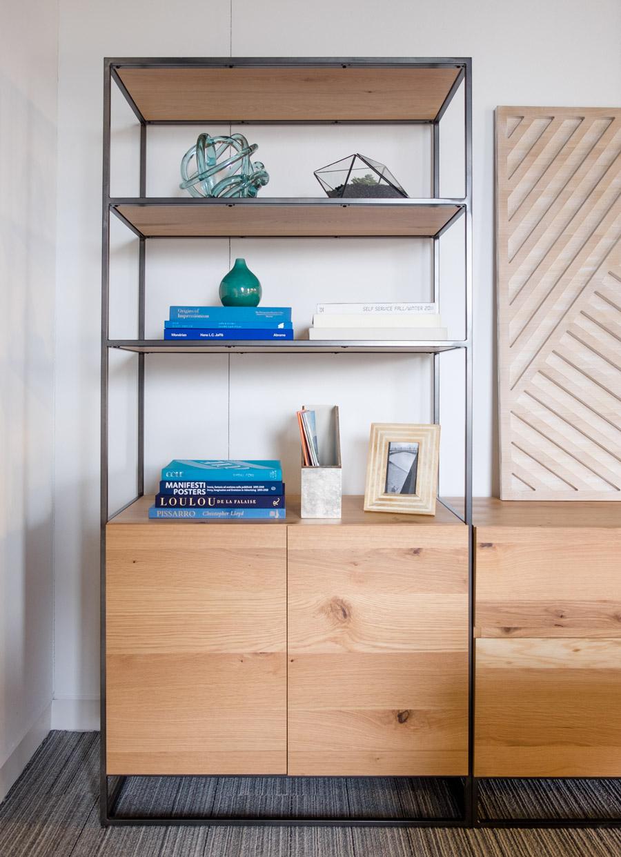 Industrial 36 Bookshelf W Storage
