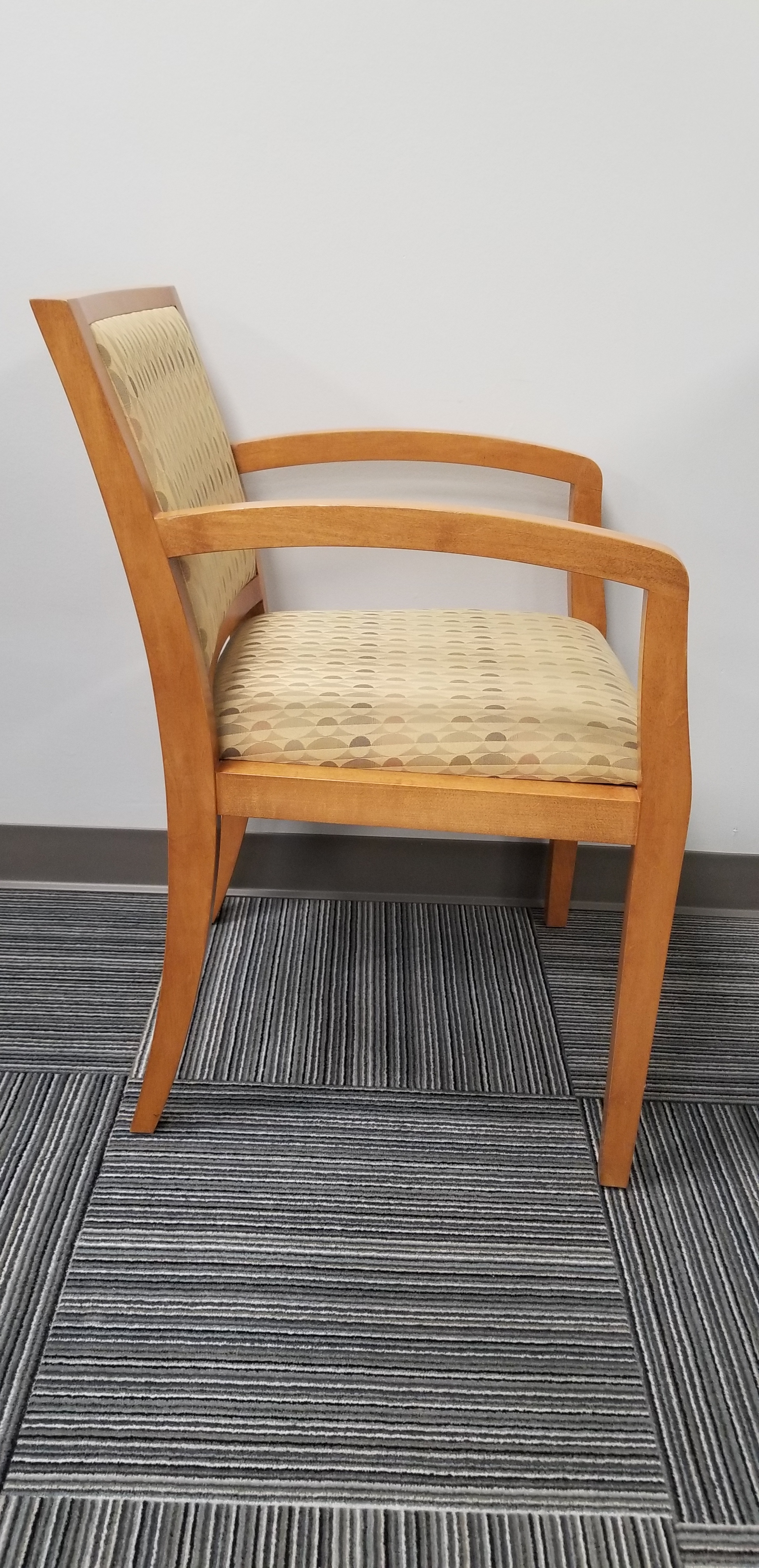 Geiger Wood Upholstered Guest Chair
