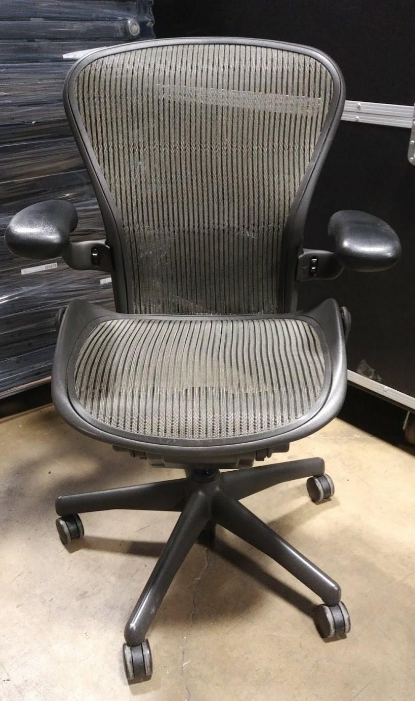 Herman Miller Aeron Size B 3d03 Nickel Mesh Office Furniture